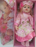 عروسک موزیکال سایز 24 لباس صورتی
